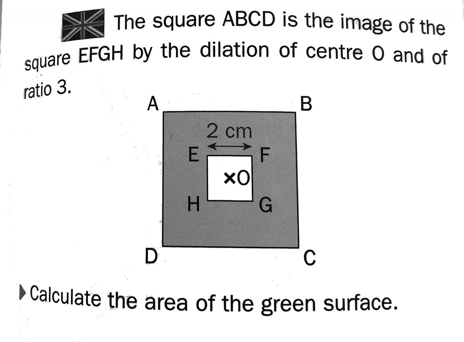 Calcul de l'aire d'une figure en anglais : exercices en 6ème.