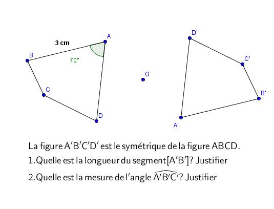 Utilisation des propriétés de la symétrie centrale : exercices en 5ème.