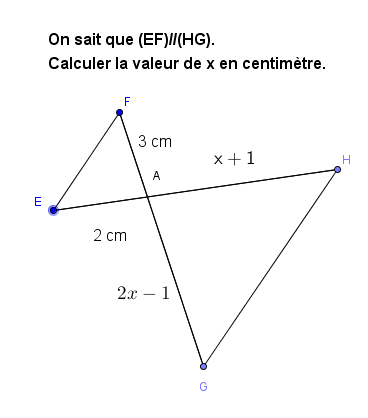 Thalès et équations : exercices en 3ème.