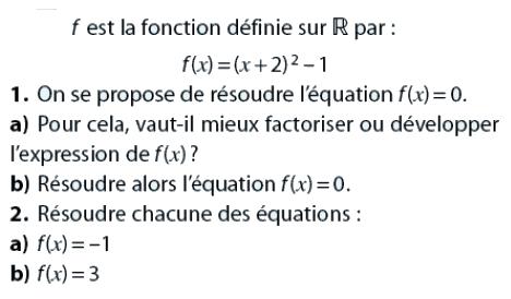 Fonctions et inéquations du 1er degré : exercices en 2de.
