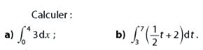 Calculer ces intégrales : exercices en terminale S.