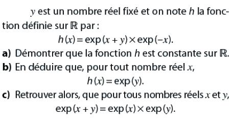 Démontrer que la fonction est constante : exercices en terminale S.