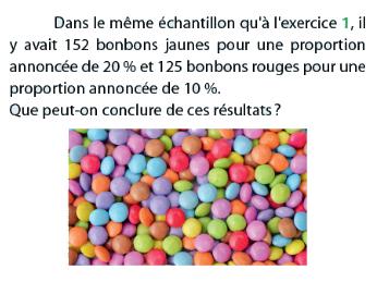 Bonbons et proportion d'échantillon : exercices en terminale S.