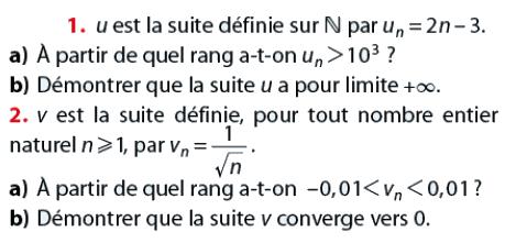 Démontrer que la suite converge vers 0 : exercices en terminale S.