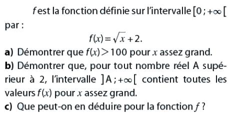 Démontrer que l'intervalle contient toutes les valeurs de f(x) : exercices en terminale S.