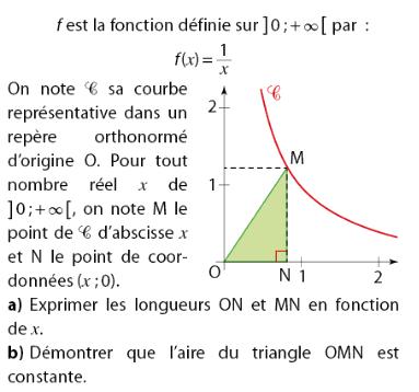 Exprimer des longueurs et aire d'un triangle : exercices en 2de.
