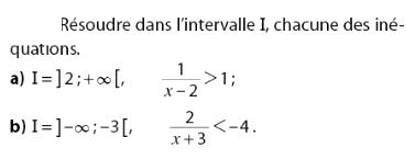 Résoudre des inéquations et intervalles : exercices en 2de.