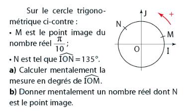 Calculer la mesure d'un angle : exercices en 2de.
