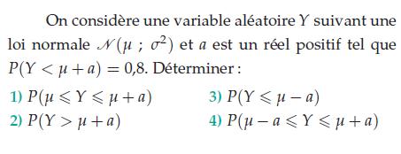 Une variable aléatoire et une loi normale : exercices en terminale S.