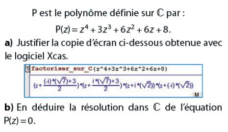 Polynôme et résolution de l'équation : exercices en terminale S.