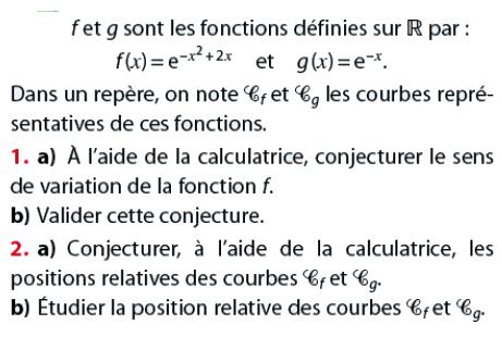 Conjecturer à l'aide de la calculatrice : exercices en terminale S.