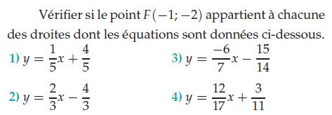 Droites et équations : exercices en 2de.