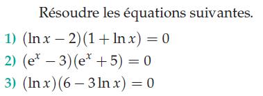 Logarithmes népériens et équations : exercices en terminale S.