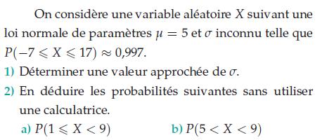 Déduire des probabilités sans la calculatrice : exercices en terminale S.