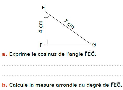 Calculs et trigonométrie : exercices en 3ème.