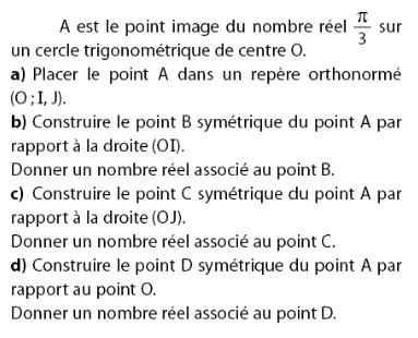 Construire le symétrique d'un point : exercices en 2de.