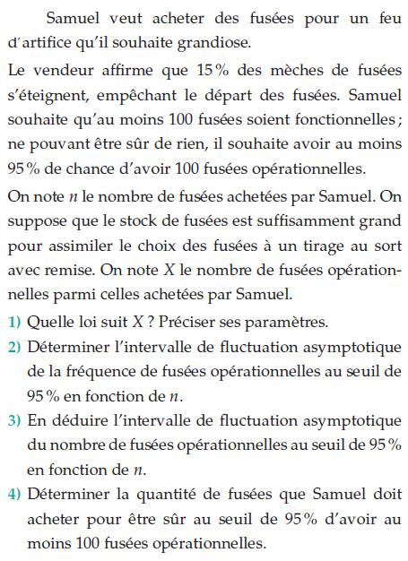 Des fusées pour un feu d'artifice : exercices en terminale S.