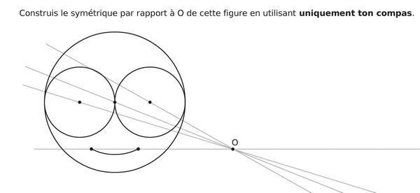 Construire le symétrique de la tête : exercices en 5ème.