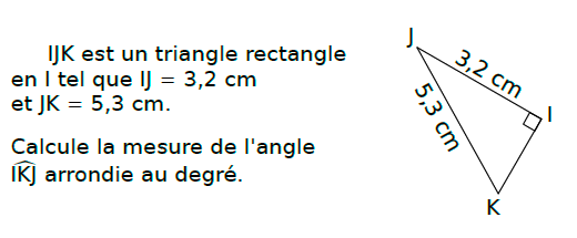 Trigonométrie et triangle rectangle : exercices en 3ème.