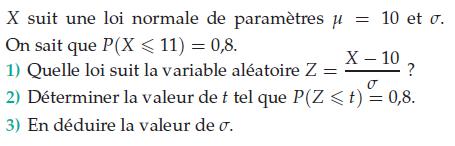 Quelle loi suit la variable aléatoire ? : exercices en terminale S.
