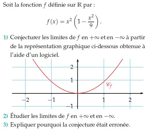 Limite en + et - l'infini : exercices en terminale S.