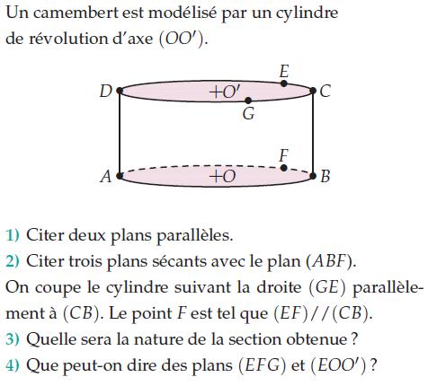Un camenbert et un cylindre de révolution : exercices en 2de.