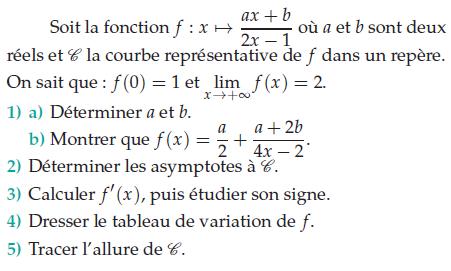 Fonctions rationnelles et asymptotes : exercices en terminale S.