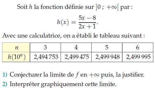 Fonction rationnelle et limite : exercices en terminale S.