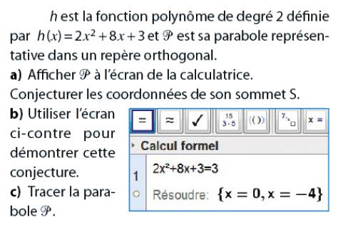 Fonction polynôme de degré 2 : exercices en 2de.