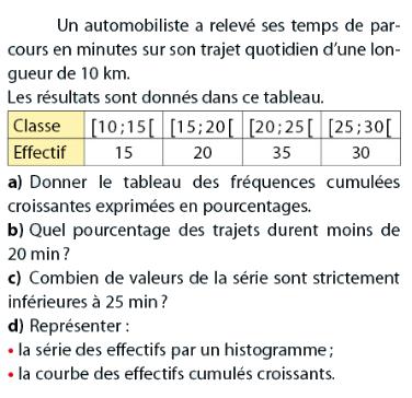 Statistiques : exercices de maths 2de (seconde) à imprimer ...