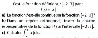 Fonction continue et intégrale : exercices en terminale S.