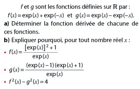Fonction dérivée et exponentielle : exercices en terminale S.