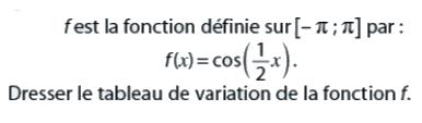 Dresser le tableau de variation : exercices en terminale S.