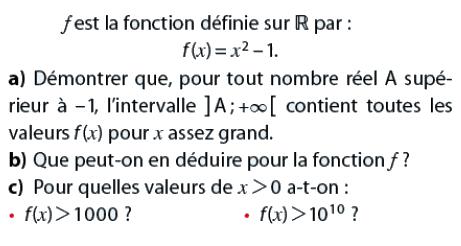 Que peut-on en déduire pour la fonction f? : exercices en terminale S.