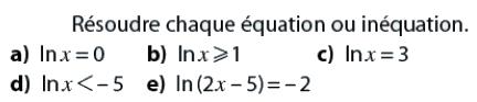 Logarithmes, équations et inéquations : exercices en terminale S.