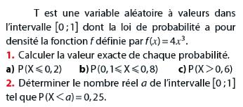 Variable aléatoire et loi de probabilité : exercices en terminale S.