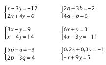 Résoudre des systèmes de 2 équations à 2 inconnues : exercices en 2de.