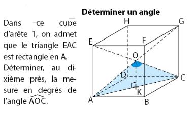 Trigonométrie et étude d'un cube : exercices en 2de.