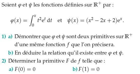 Démontrer que ces fonctions sont des primitives : exercices en terminale S.