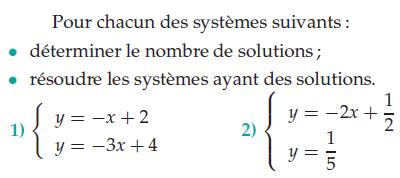 Déterminer le nombre de solutions : exercices en 2de.