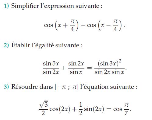 Simplifier et résoudre des équations : exercices en terminale S.