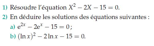Logarithmes et exponentielles : exercices en terminale S.
