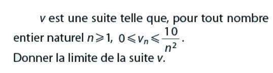 Donner la limite de v : exercices en terminale S.