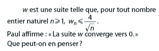 Peut-on penser que la suite converge vers 0 ? : exercices en terminale S.