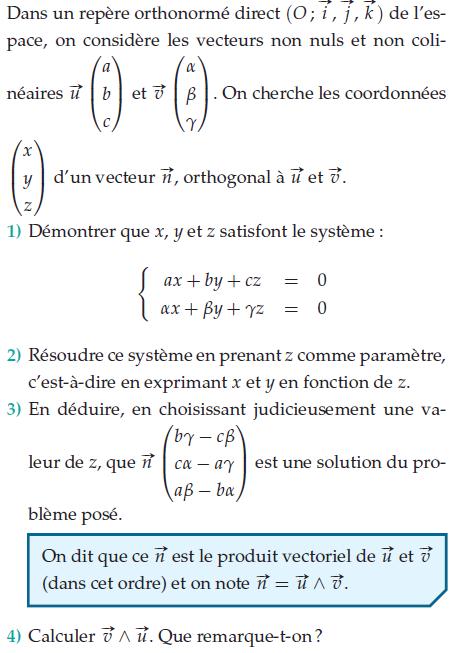 Résoudre ce système avec z comme paramètre : exercices en terminale S.