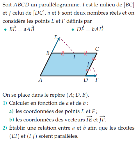 Vecteurs Exercices De Maths 2de Seconde A Imprimer Et Telecharger En Pdf