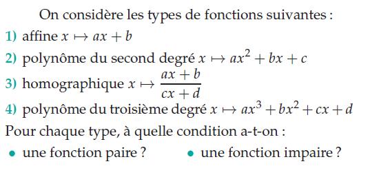 Fonction homographique et polynôme : exercices en terminale S.