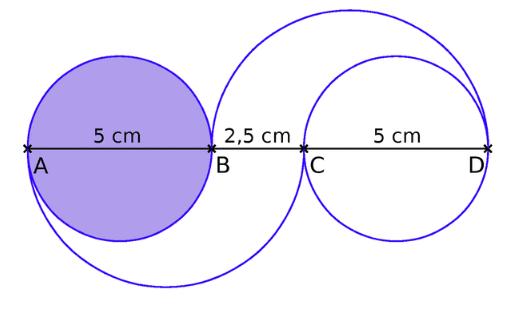 Construire une figure contenant des cercles : exercices en 5ème.