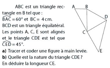 triangle rectangle et sa nature : exercices en 2de.