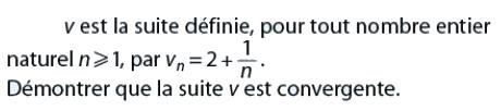 Démontrer que la suite est convergente : exercices en terminale S.